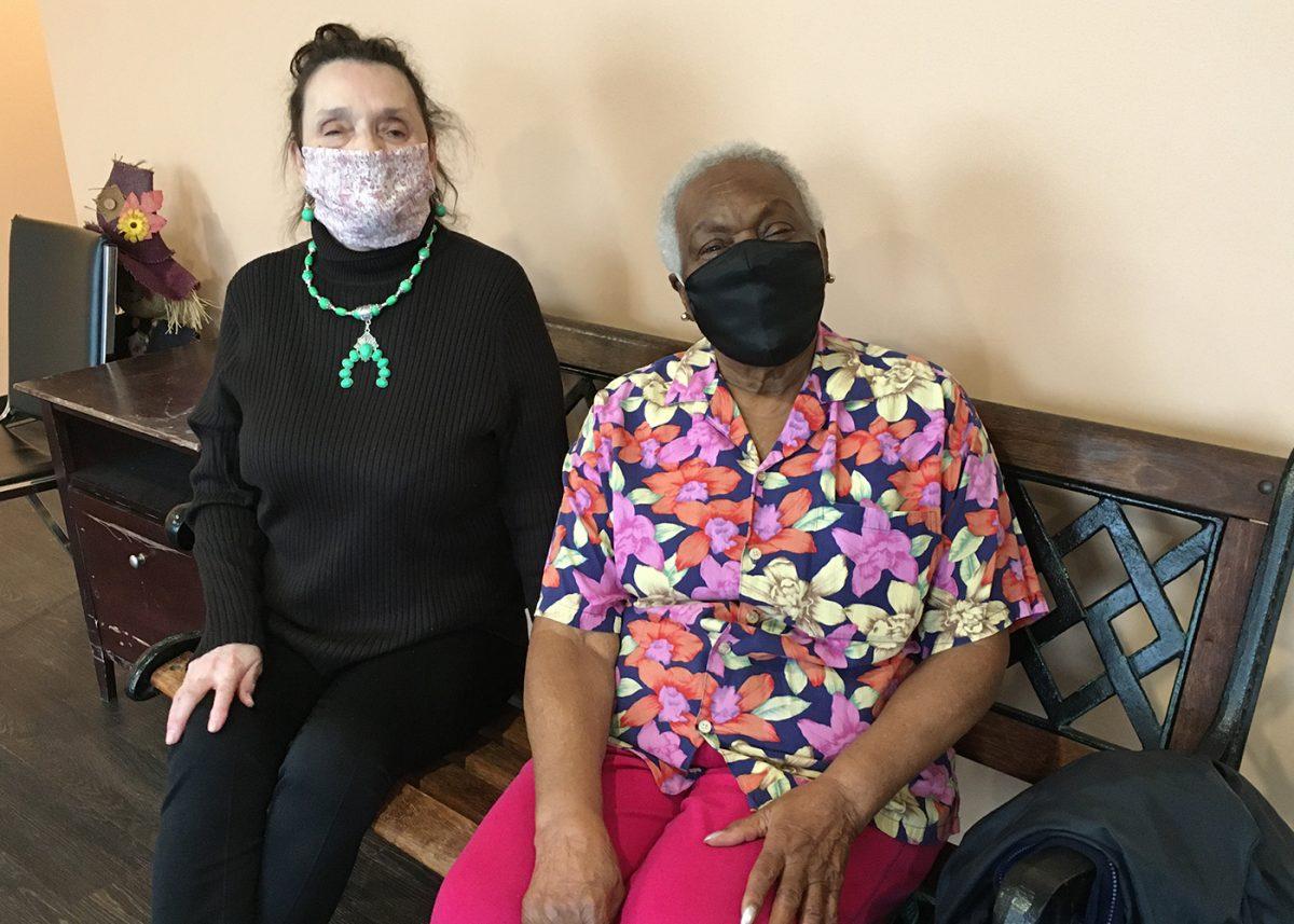 Therese Savarese and Betty Banks, residents of Pennsauken Senior Residence